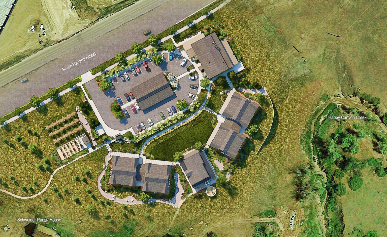 Aerial of Tall Tales Ranch